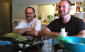 Lee Griggs and Darryl Dunn at the dining table, Petaluma, 2010
