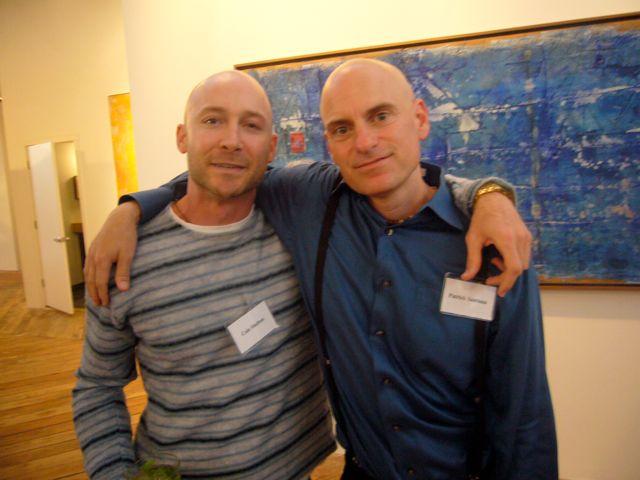 Cole Shelton and Patrick Santana at the New Leaders benefit, San Francisco, June 2010