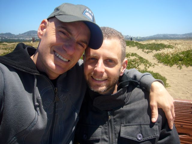 Patrick and Troy at Fort Funston, 2010