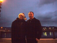 On the Napa riverfront with Darryl Dunn, 2009
