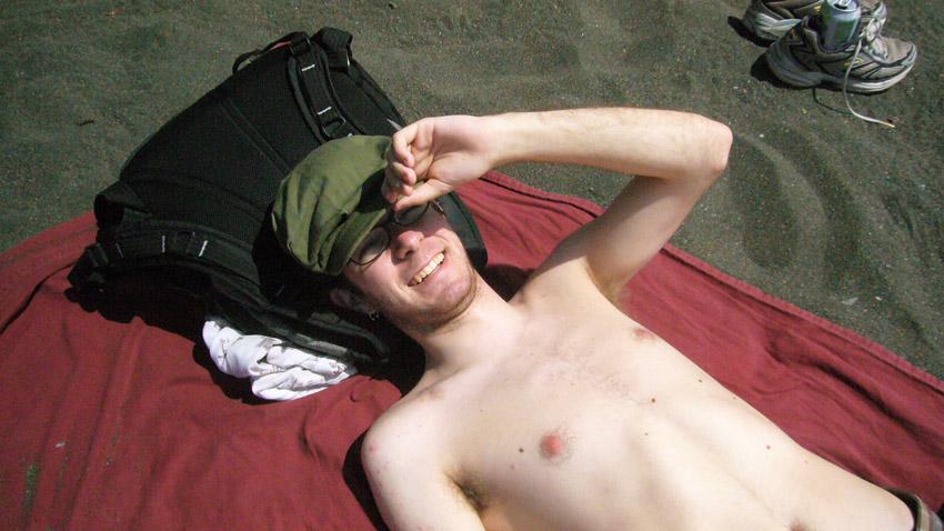 Matt Sachs on Black Sands Beach, 2007