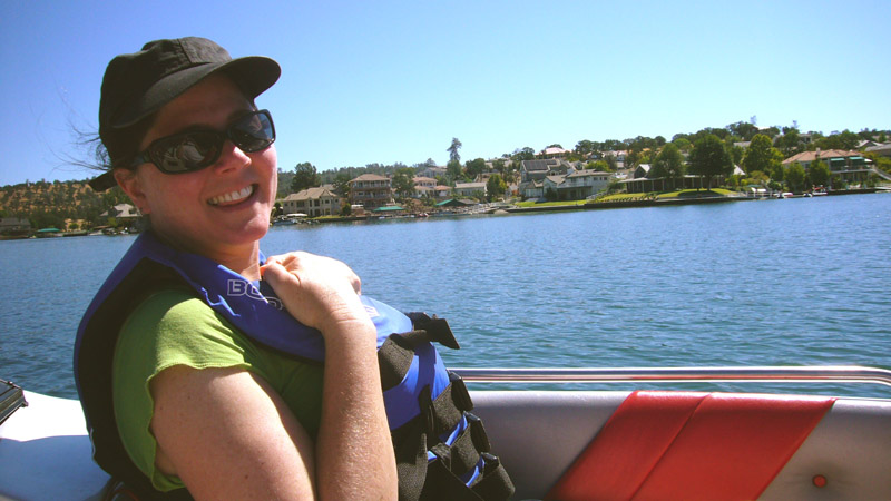 Stacy Martin on the kayot, Lake Tulloch 2008