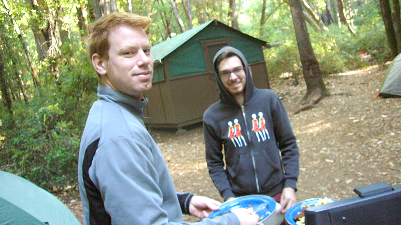 Anthony Conti and Matthew Sachs, Big Basin morning 2008