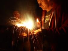 Patrick lights one up, July 4 2011
