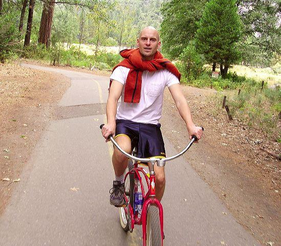 Biking around the valley floor