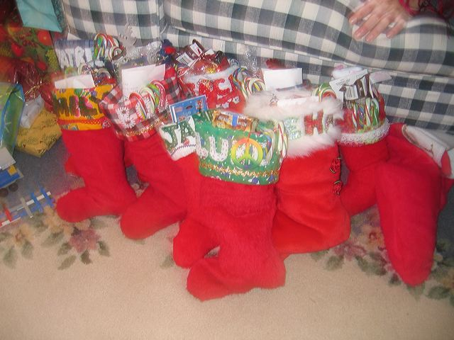 Stockings hung at 6843 55th Avenue NE, Seattle. 2005