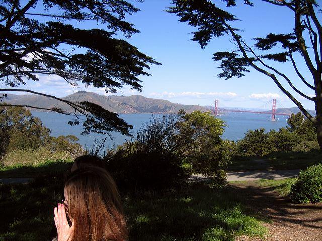 Richard's memorial site above the Golden Gate
