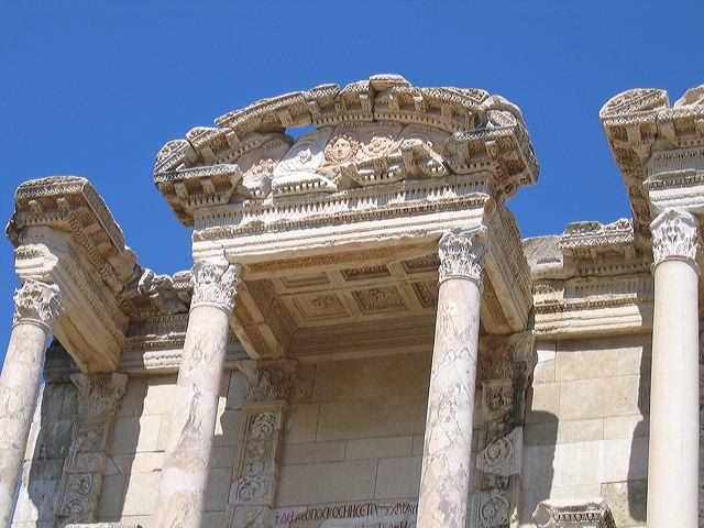 Detail of the Library of Celsus, Ephesus