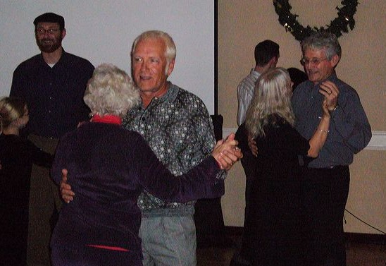 Grandma Evelyn Thompson and Uncle Steve Robertson dancing, 2006