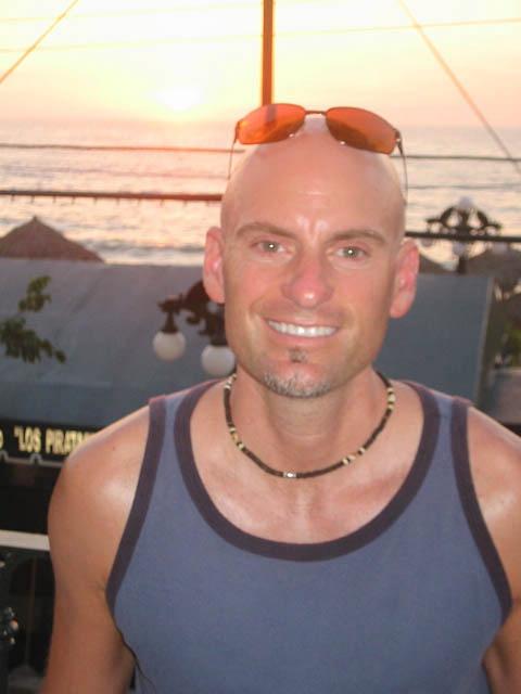 Patrick Santana on the deck of the Playa del Sol, 2004