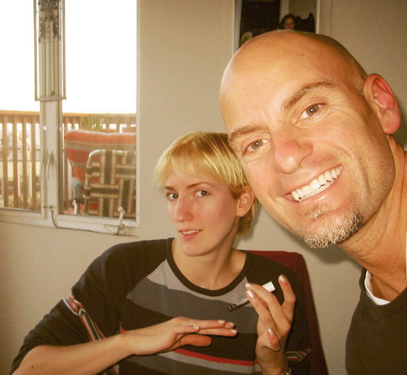 Emily Anderson and me, 2004