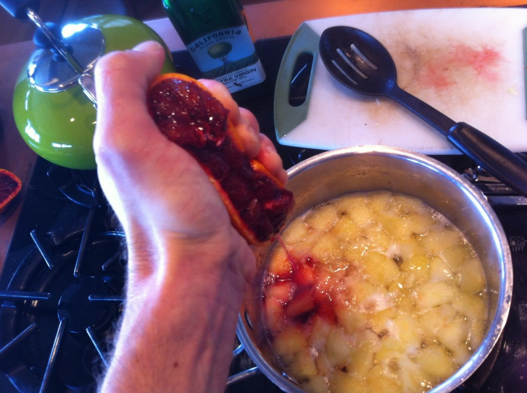 Cooking the marmalade filler