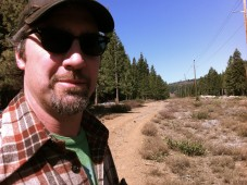 John Angelico on a fire trail