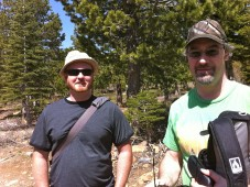 Darryl and John, ready to go hiking