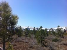 Still some snow in the Sierras, 2012