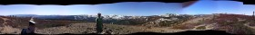 Pano from atop Donner Peak