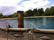 The fountain in Volunteer Park's reservoir, Seattle WA