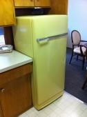 The old school fridge in University Motel Suites, Seattle, WA