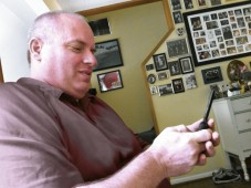 Brother Jack Santana, 2012, working his phone