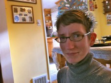 Emily Anderson, bride-to-be in a tiara, Seattle, WA, 2012
