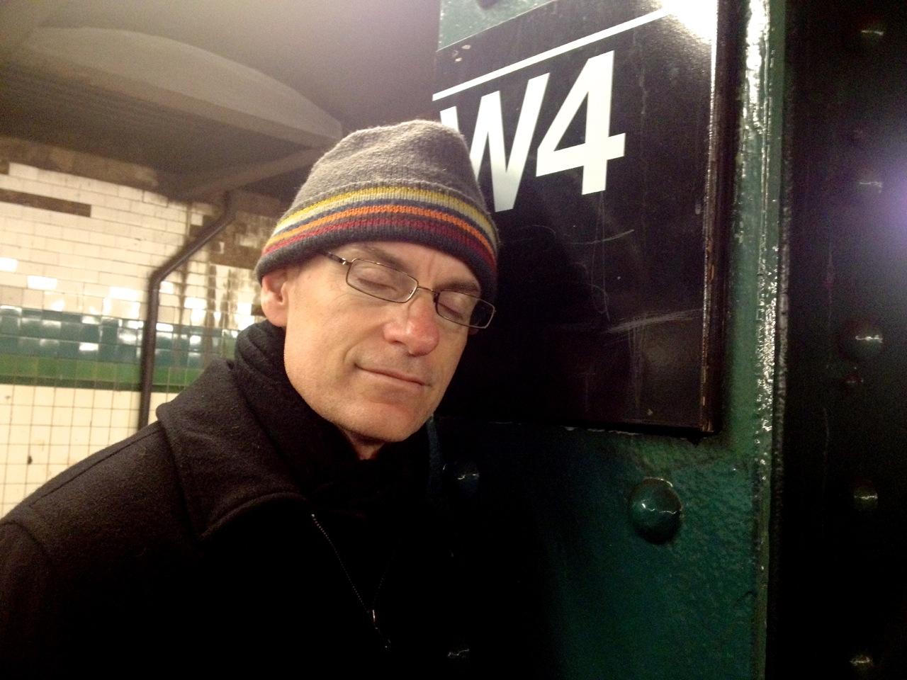 Patrick Santana at the West 4th station