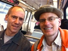 Bill and Patrick on the DC Metro