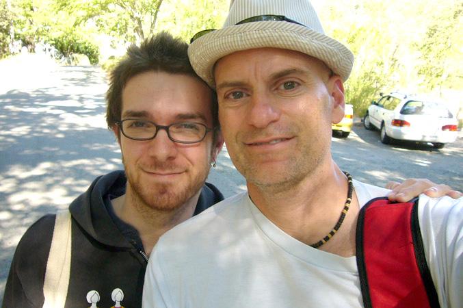 Matthew Sachs and Patrick Santana at Harbin Hotsprings, 2008
