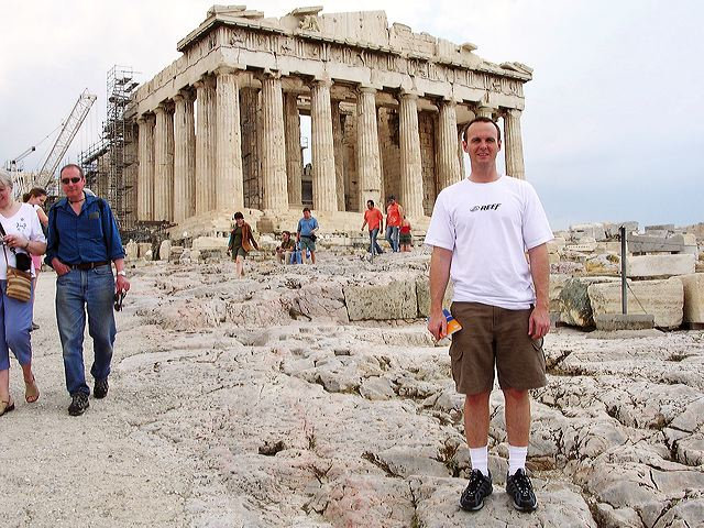 Darryl Dunn on the Acropolis, Athens