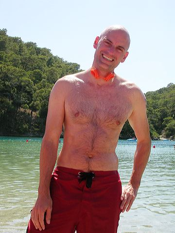 Patrick on shore of Oludeniz lagoon, 2005