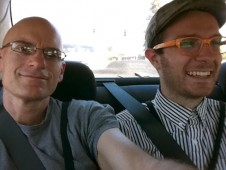 Matthew Sachs and I on the drive to Sonoma County Fair 2011