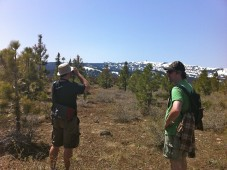 Darryl and John take a high altitude breather