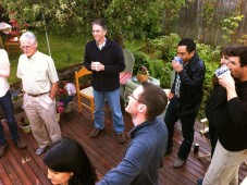 Backyard havdalah, Seattle 2012
